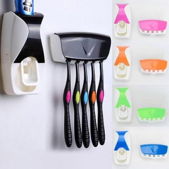 Сет автоматски дозер и држач за четки за заби