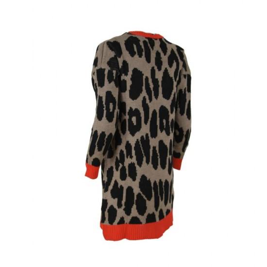 Женска долга плетена блуза